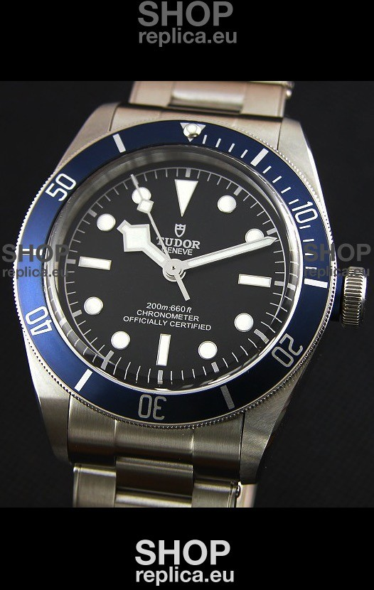 Swiss Engineered Tudor Heritage Black Bay Shield Swiss