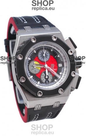 Audemars Piguet Rubens Barrichello 2011 Edition Japanese Watch in Red Dial