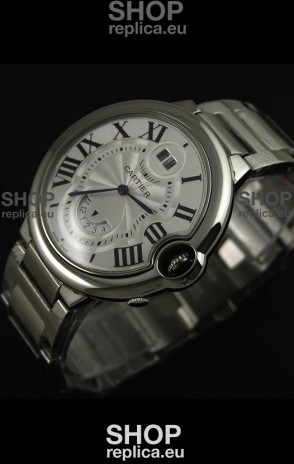 Cartier Ballon Blue de Japanese Replica Watch in White Dial