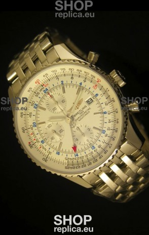Breitling Navitimer World GMT - 1:1 Mirror Ultimate Edition White Dial