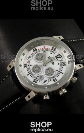 B.R.M.0011G6 Japanese Replica Quartz Watch in White Dial