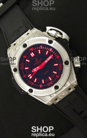Hublot King Power Diver 4000m Swiss Replica Watch in Red Markers
