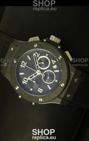 Hublot Big Bang Black Ceramic Case Watch in Quartz Movement