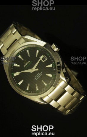 Omega Seamaster Aqua Terra Co-Axial Swiss Watch Black Dial