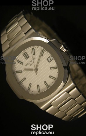 Patek Philippe Nautilus 5711 Jumbo Swiss Watch White - 1:1 Ultimate Mirror Replica