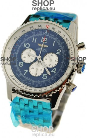 Breitling Navitimer Chronometre Japanese Watch in Blue Dial