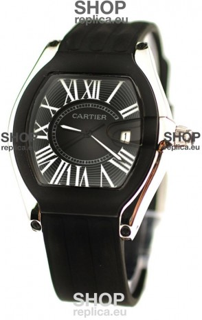 Cartier Roadster Japanese Replica Watch in Black