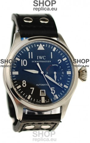 IWC Big Pilot Japanese Replica Watch in Black Dial