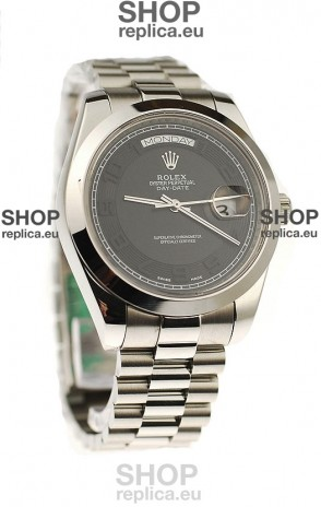 Rolex Day Date II Silver Japanese Replica Watch