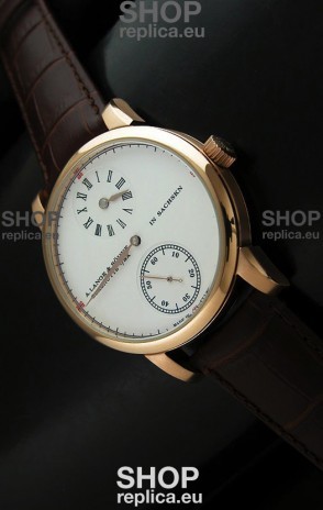 A.Lange & Sohne Cortes de Geneve Decorative Bridges Classic Replica Rose Gold Watch