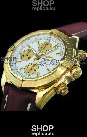 Breitling Evolution Swiss Replica Watch in Gold Case