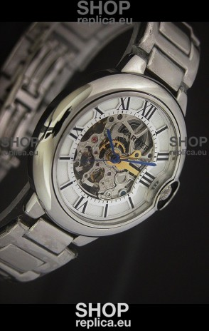 Cartier Ballon de Japanese Replica Watch in White layerd Dial