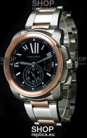 Cartier Calibre de Japanese Replica Rose Gold Watch