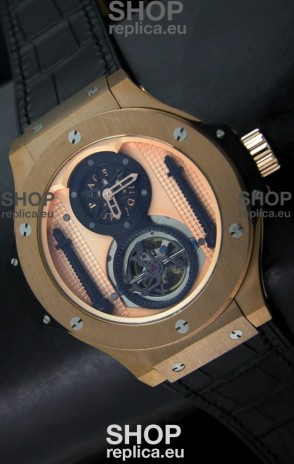 Hublot Big Bang King Power Tourbilon Japanese Replica Watch in Rose Gold