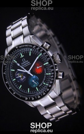Omega Special Moon Sun Speedmaster Watch in Black Dial