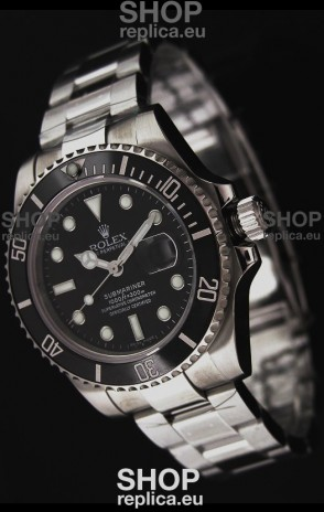 Rolex Submariner Swiss Replica Watch in Black Bezel - Ceramic Bezel Watch