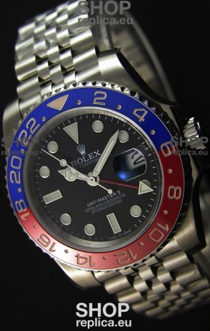 Rolex GMT Masters II 116719BLRO Pepsi Bezel ETA 2836 Movement Swiss Replica - Ultimate 904L Steel Watch