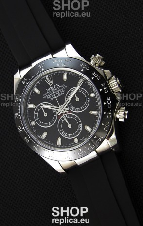 Rolex Cosmograph Daytona Black Dial Original Cal.4130 Movement - Ultimate 904L Steel Watch
