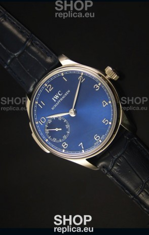 IWC Portuguese Handwind Ref# IW5242 Swiss 1:1 Mirror Blue Dial Watch