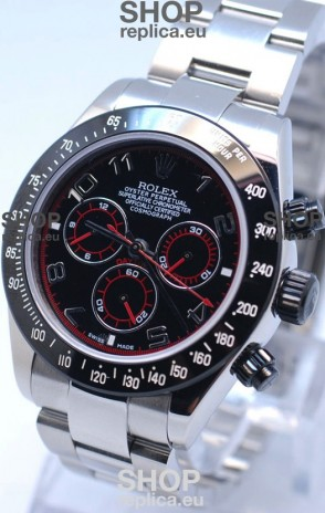 Rolex Project X Daytona Limited Edition Series II Cosmograph MonoBloc Cerachrom Swiss Watch in Black Dial