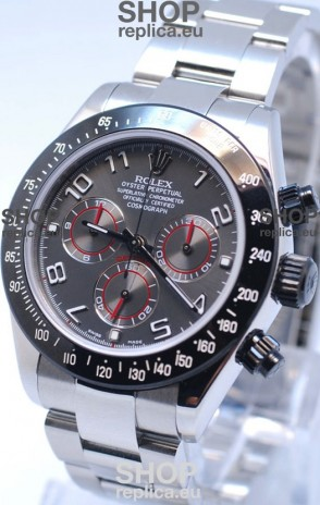 Rolex Project X Daytona Limited Edition Series II Cosmograph MonoBloc Cerachrom Swiss Watch in Grey Dial