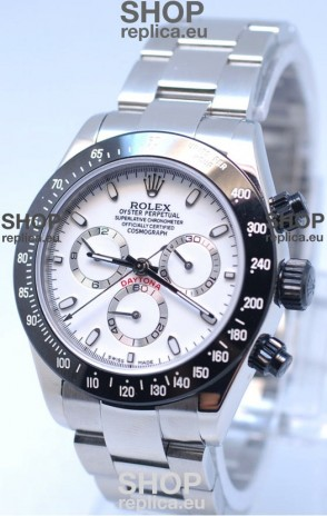 Rolex Project X Daytona Limited Edition Series II Cosmograph MonoBloc Cerachrom Swiss Watch in White Dial