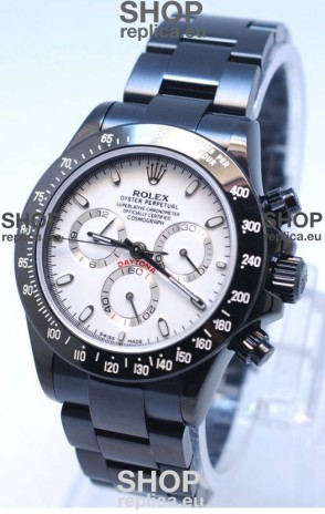 Rolex Daytona Cosmograph Project X Design Black Out Edition Series II Swiss Replica Watch in White Dial