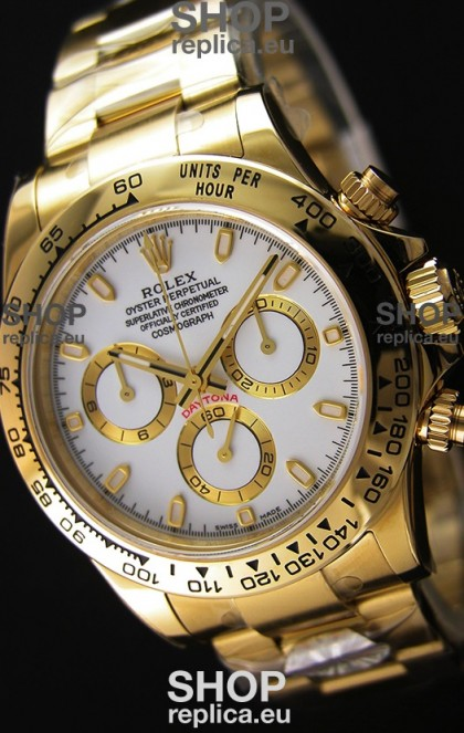 Rolex Cosmograph Daytona 116508 Yellow Gold Original Cal.4130 Movement - Improved Ultimate 904L Steel Watch