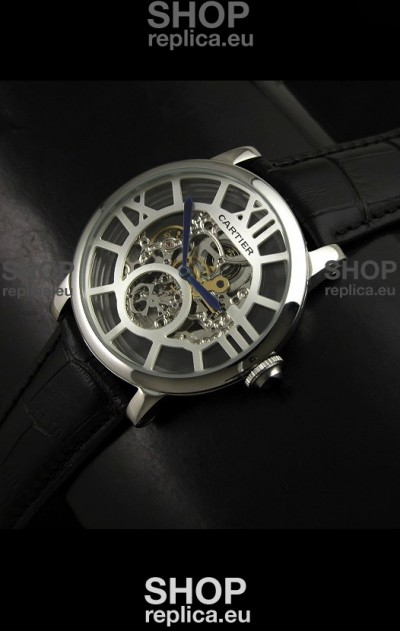 Cartier Ronde de Japanese Replica Watch in Skelton White Dial