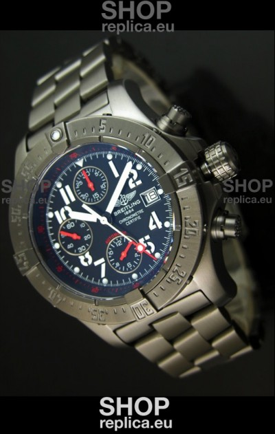Breitling Skyland Avenger Swiss Replica Watch with PVD Coating - Mirror Replica