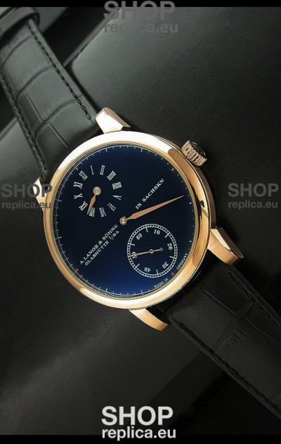 A.Lange & Sohne Glashutte In Sachskn Classic Replica Rose Gold Watch