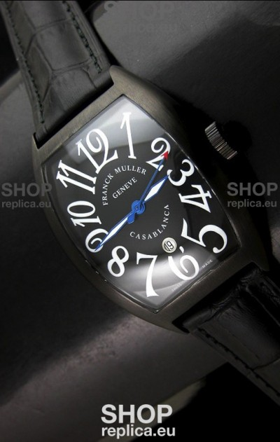 Franck Muller Casa Blanca Japanese Replica Watch in Black Dial