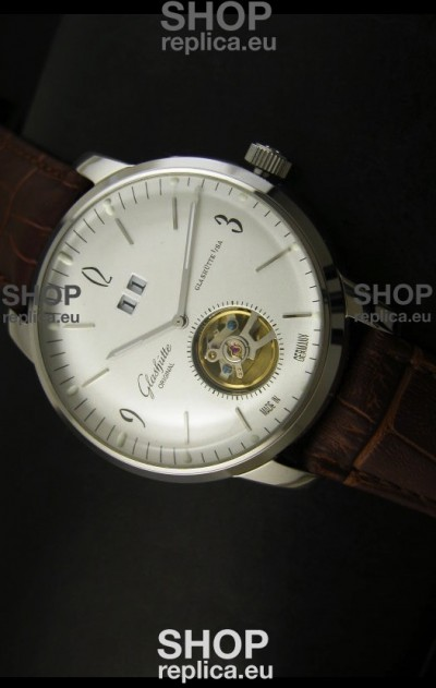 Glashuette Tourbillon Japanese Replica Watch in White Dial