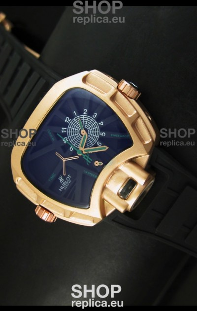 Hublot Big Bang MP 02 Key of Time Edition Japanese Watch in Pink Gold Case