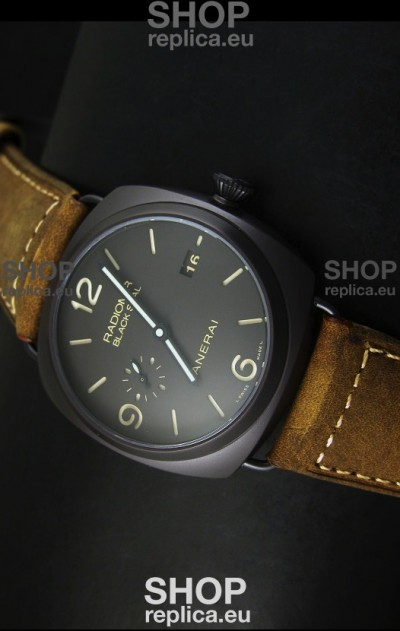 Panerai Radiomir PAM505 Black Seal 3 Days Edition with DLC Coated Case Swiss Watch