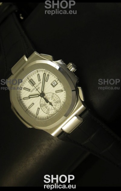 Patek Philippe Nautilus 5980 Black Strap - 1:1 Ultimate Mirror Replica
