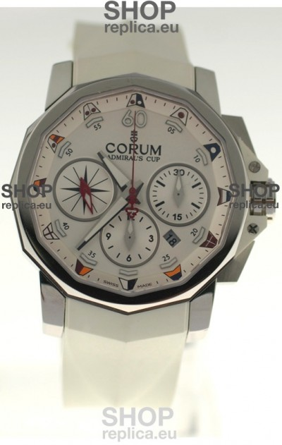 Corum Admiral Cup Challenge Swiss Replica Watch in White