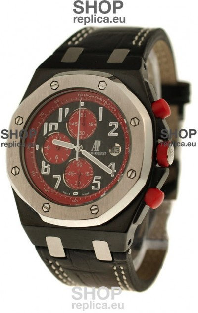 Audemars Piguet Royal Oak Offshore Limited Edition SingaporeGP 2008 Japanese PVD Watch in Black Dial