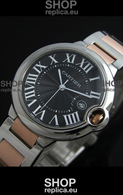 Cartier Ballon Bleu de Japanese Replica Watch Two Tone