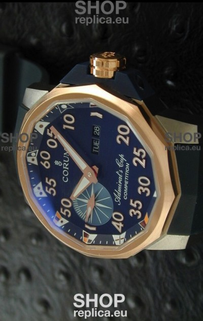 Corum Admiral's Cup Competition Swiss Replica Watch in Blue Dial