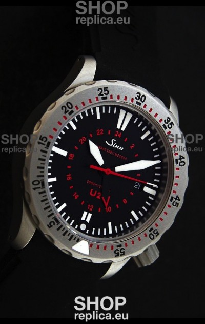 Sinn U2 EZM 5 Diver Swiss Watch in Titanium Casing