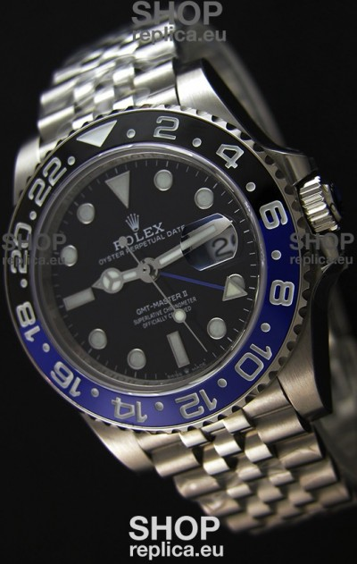 Rolex GMT Masters II 126710BLNR Batman Cal.3186 Movement Swiss Replica - Ultimate 904L Steel Watch