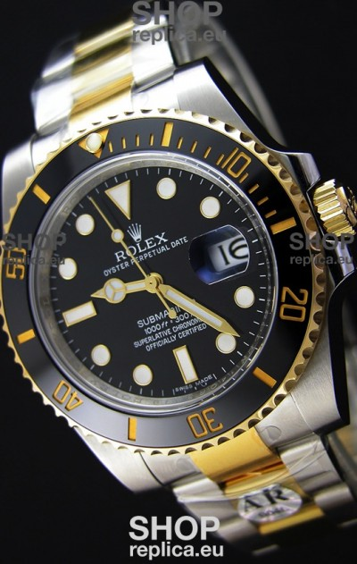 Rolex Submariner Date Ceramic Two Tone 116613 - Replica 1:1 Mirror - Ultimate 904L Steel Watch