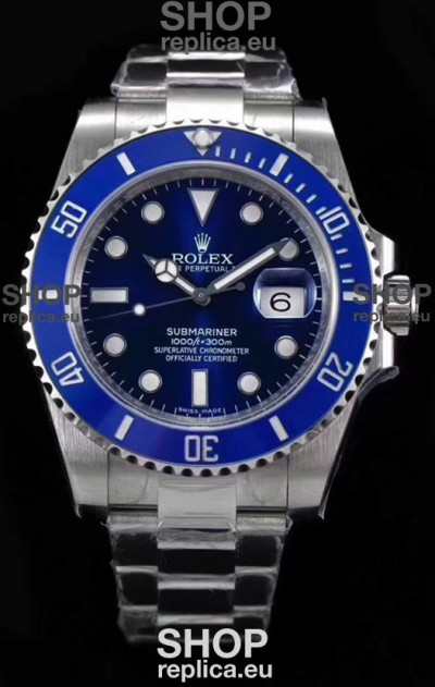 Rolex Submariner Ref#126610LB ETA3135 Replica 1:1 Mirror 904L Steel Watch 41MM