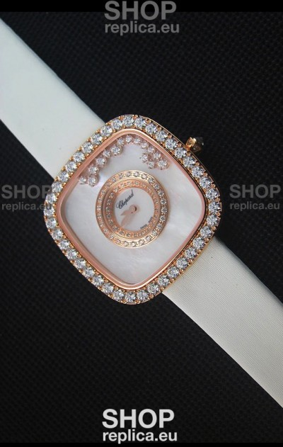 Chopard Happy Diamonds 38MM White Strap in White Dial