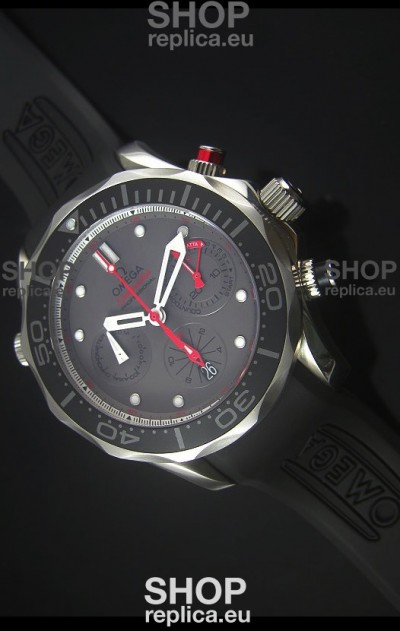 Omega Seamaster Professional Regatta Swiss Replica Watch Rubber Strap