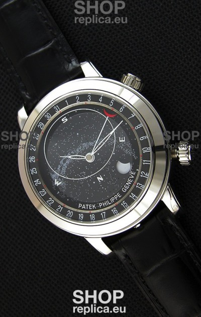 Patek Philippe Grand Complication 6102P Celestial Moon Age Grey Dial Swiss Replica Watch