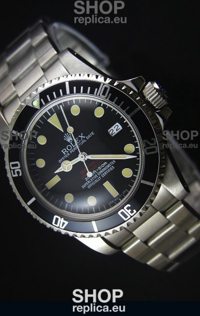 STEELMOVEMENT - Rolex Sea Dweller Double Red 1665 Vintage Edition Japanese Movement Watch