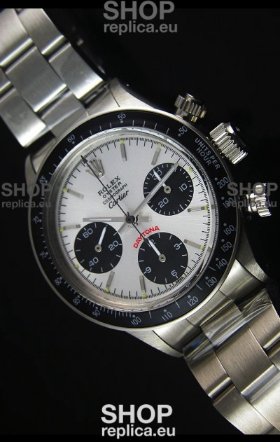 Rolex Daytona Vintage 6263 for CARTIER Edition Swiss Replica Watch with Black Bezel