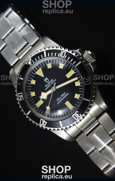 Tudor Oyster Prince Vintage 200M Black Dial Squre Markers Swiss 1:1 Mirror Replica Watch
